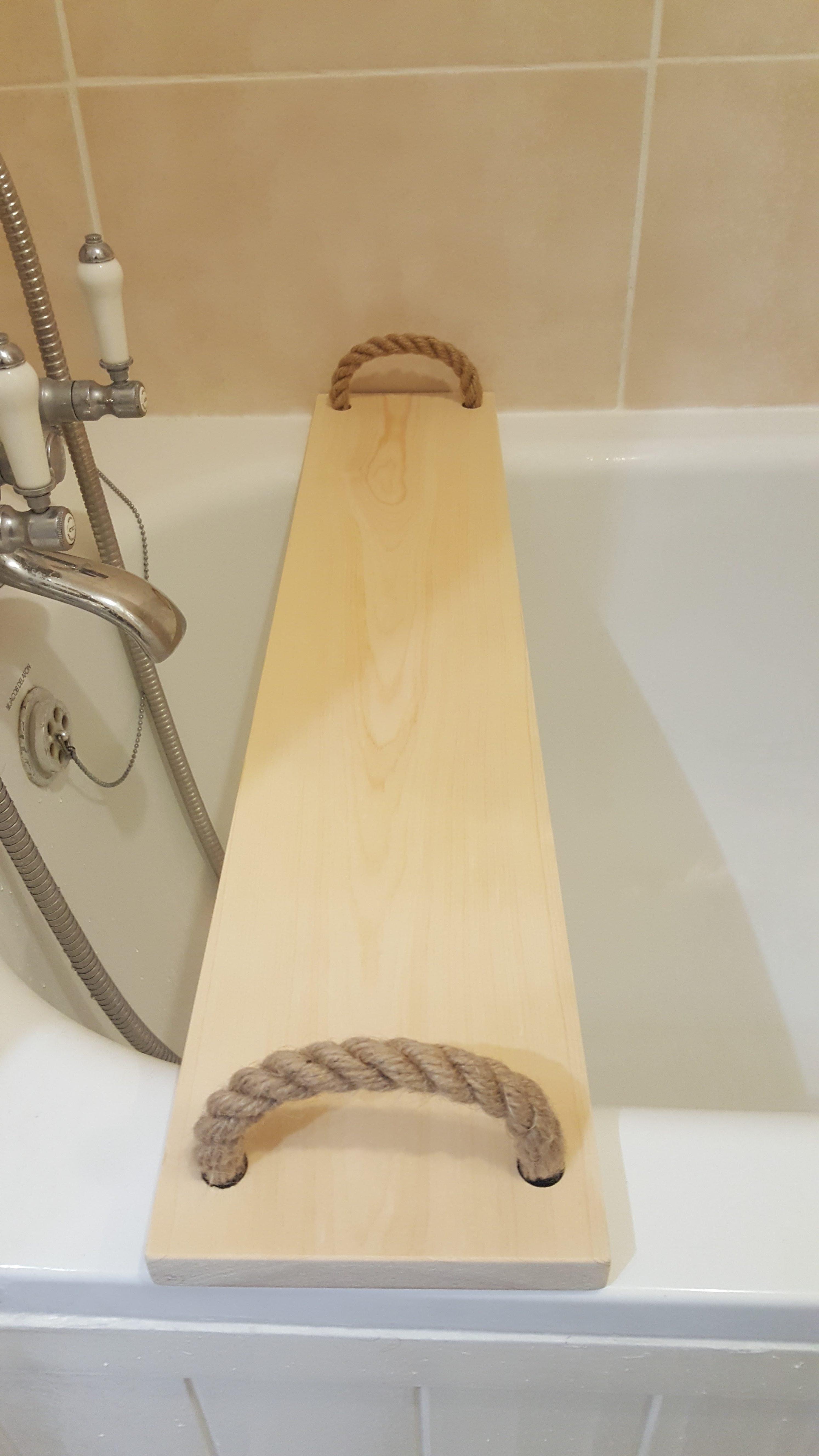 Solid Pine Wood Handmade BathTub Caddy Tray Rack bath Bridge Wooden ...